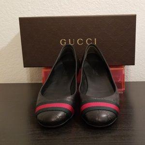Gucci Guccissima Ballet Flats Monogram Black